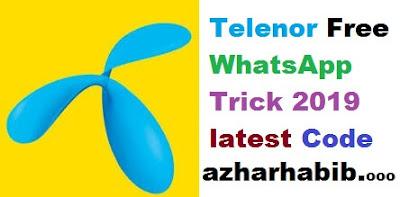 Telenor Free WhatsApp Trick 2018 latest Code