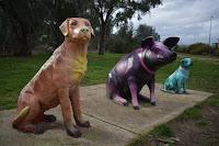 Albury Street Art | Logans Rd Dog park mural by Kade Sarte