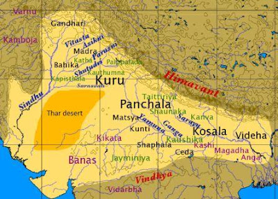 Geographical location of the Rigvedic period