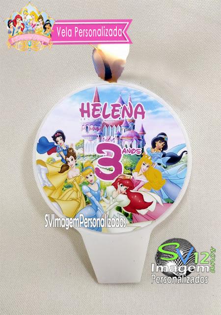Vela As Princesas  Disney dicas e ideias para decoração de festa personalizados