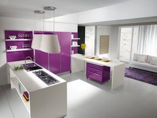 cocina moderna morada
