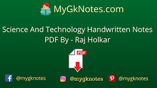Science And Technology Handwritten Notes PDF By - Raj Holkar
