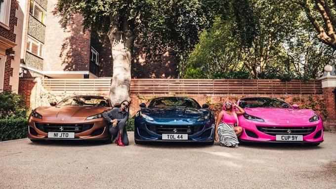 Femi_Otedola take out Ifeoluwa Tolani, Temi and bought them a Ferrari each