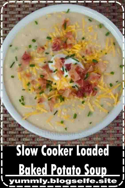 All of your favorite ingredients from a loaded baked potato made into a delicious and simple crock pot soup. This recipe quickly became one of our favorites!