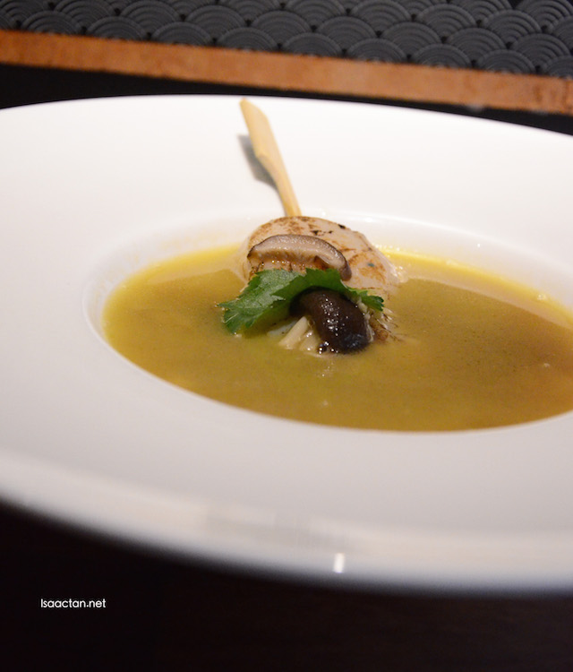Buttery Shoyu Mushrooms & Scallop Broth