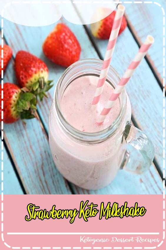 Berry shakes and smoothies are delicious on hot summer days Strawberry Keto Milkshake