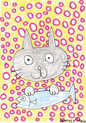 魚を捕まえた猫 [cat caught the fish]