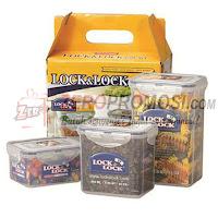 Lock & Lock Plastic Container Economy Set Ii (3P) HPT807T