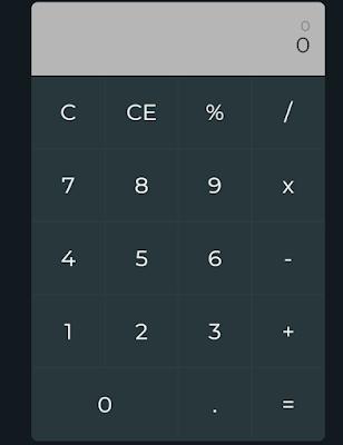 calculator html javascript | calculator javascript code