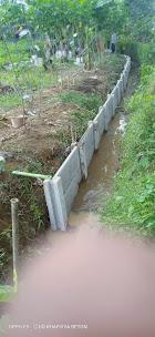 pagar panel beton buat saluran air