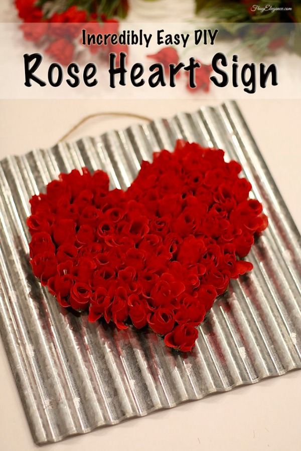 Rose Heart Sign from Frugelegance