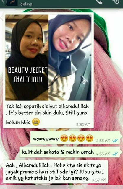 Image result for BEAUTY SECRET SHALICIOUS testimoni