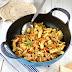 Pollo con verduras salteadas al curry
