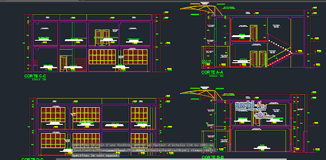 General architecture and model development, for example in AutoCAD