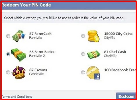 redeem a facebook game card dragon city