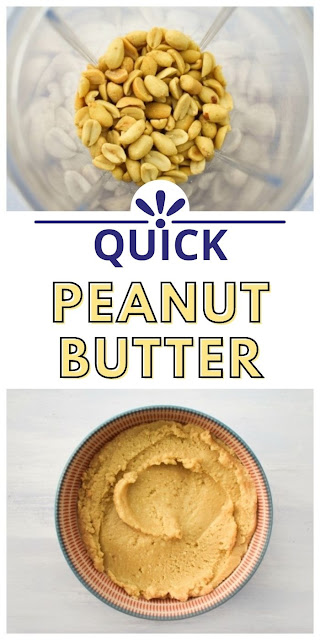 quick peanut butter made in a blender
