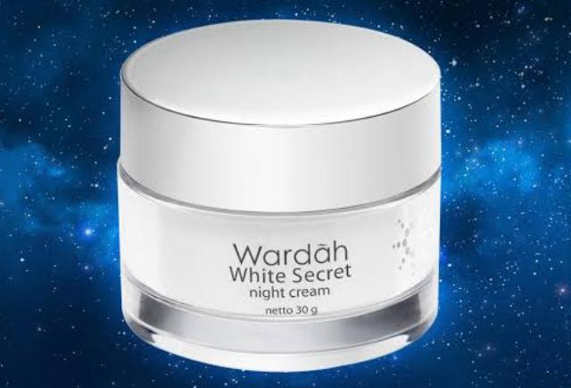 Pemakaian Wardah White Secret Night Cream