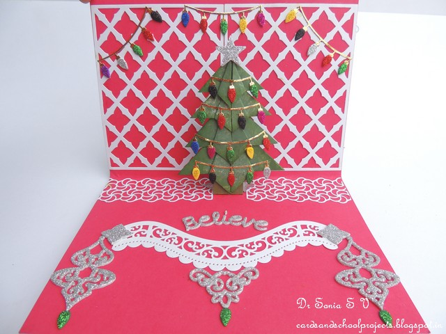 Cards ,Crafts ,Kids Projects: Pop Up Christmas Tree Card