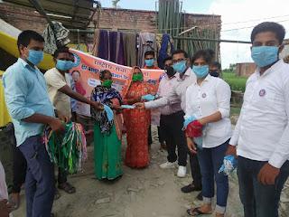 VBSPU : स्वयंसेवकों ने देवकली में वितरित किया 1200 मास्क | #NayaSaveraNetwork