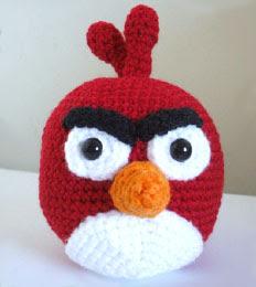 angry bird amigurumi rojo tejido en crochet