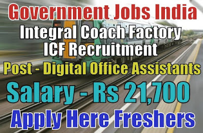Integral Coach Factory Recruitment 2018