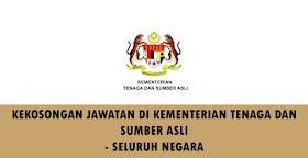 Mohon Jawatan Kosong Di Kementerian Tenaga & Sumber Asli -Seluruh Negara