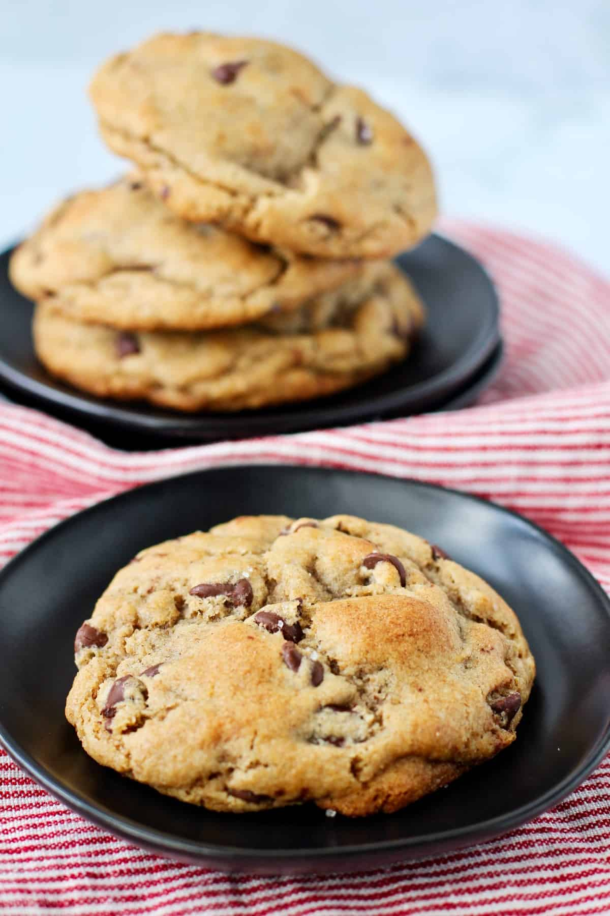 Sourdough Browned butter and Whole Wheat Chocolate Chip Cookies