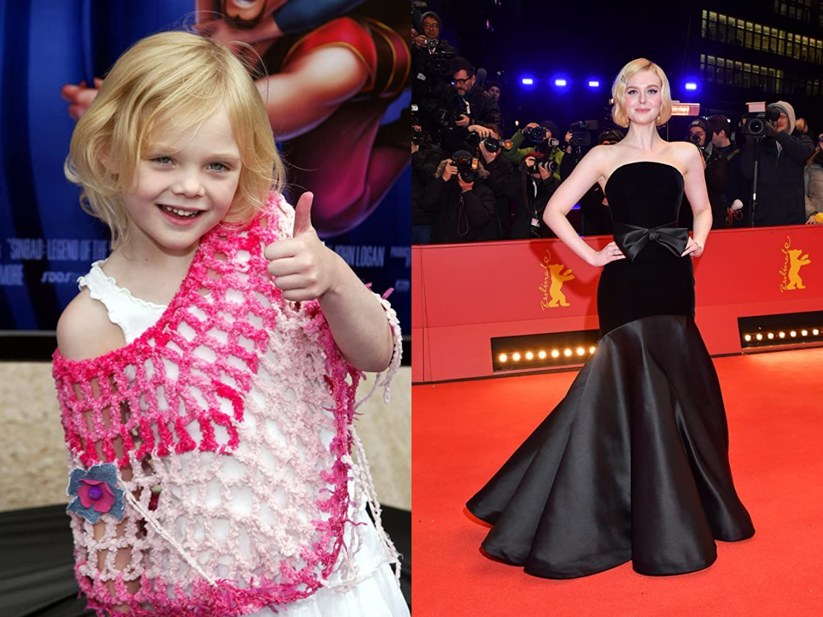Elle Fanning in 2003 and 2020