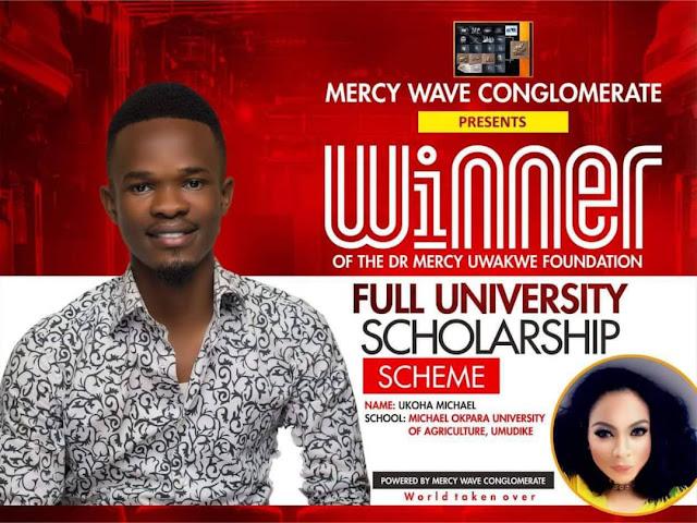 Mr Michael Ukoha Emerges Winner of Mercy Uwakwe Foundation Scholarship Scheme ( Read Details)