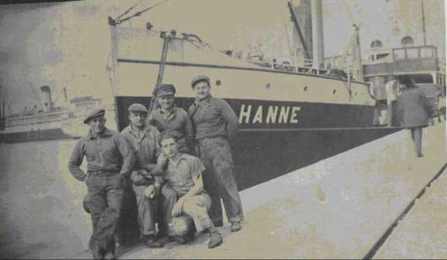 British supply ship Hanne, sunk on 22 February 1942, worldwartwo.filminspector.com