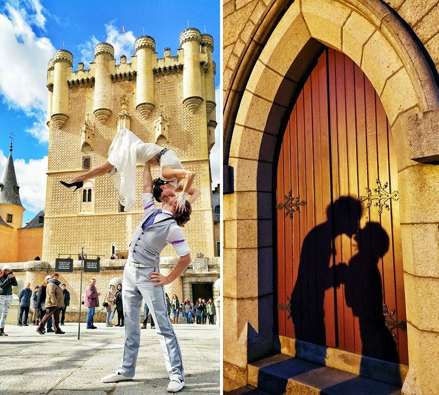 Segovia, Spain - Acrobat Couple Gets Married In 38 Different Places Around The World In 83 Days