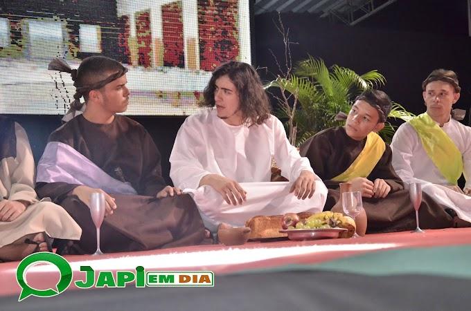 FOTOS: Encenação da peça sacra Paixão de Cristo realizada pela prefeitura de Japi com todo elenco Japiense