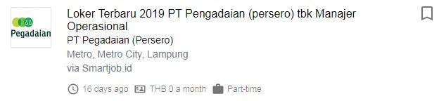 Lowongan Kerja Daerah Kota Metro Lampung