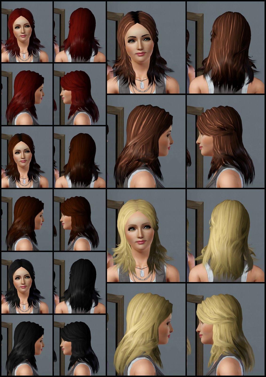 The Sims 3 Store: Hair Showroom: Long Wavy Hair