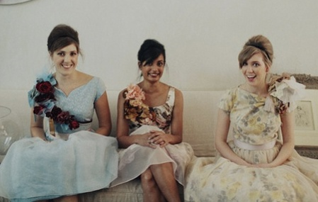pinned corsages for your bridesmaids | full DIY tutorial on oh lovely day