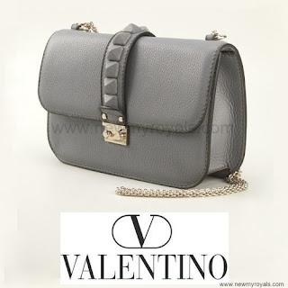 Crown Princess Victoria carries Valentino Gray Glam Lock Shoulder Bag