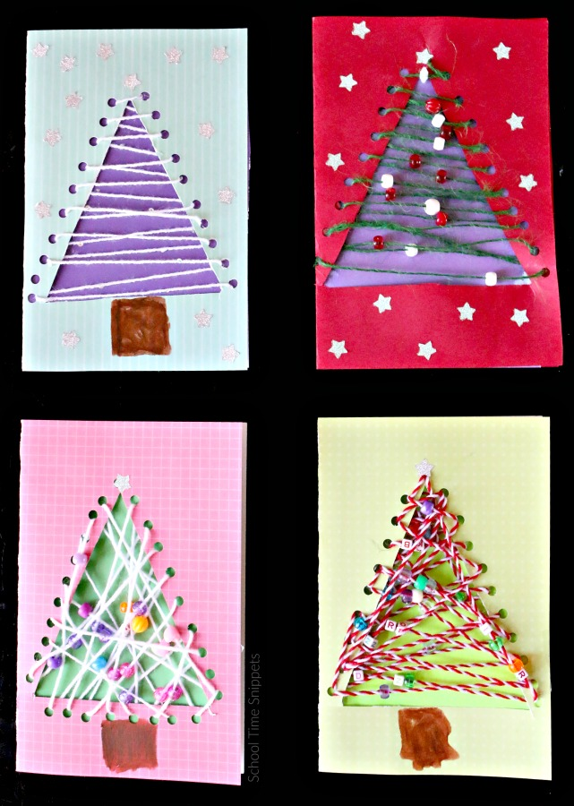 christmas cards for kids to make