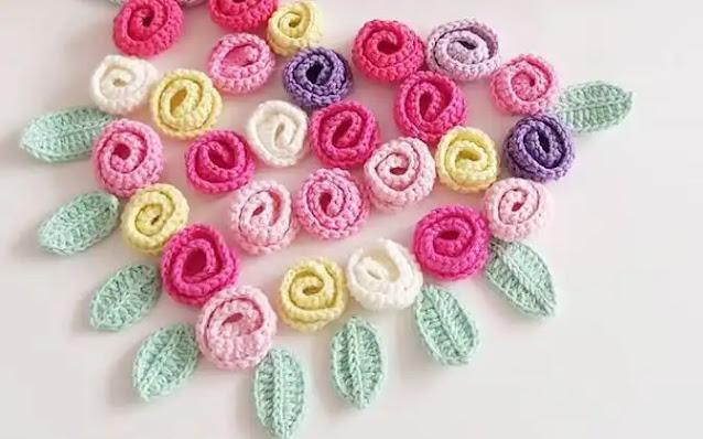 Cómo Tejer una Rosa Fácil a Crochet - Varías Versiones de Rosas
