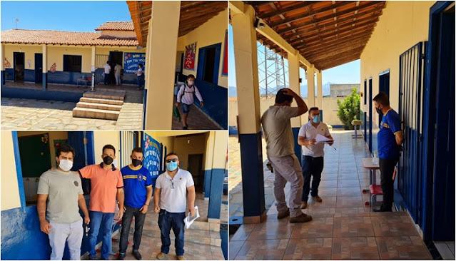 Rio de Contas/BA: Prefeito visita escola no distrito de Mato Grosso e anuncia investimentos
