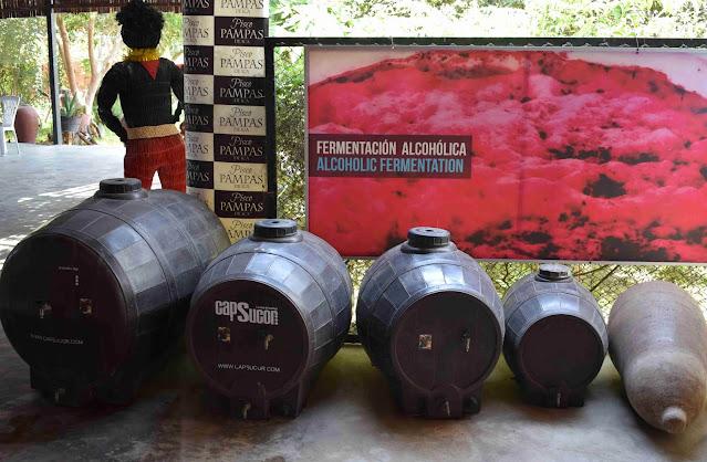 barris de madeira em uma destilaria de vinhos