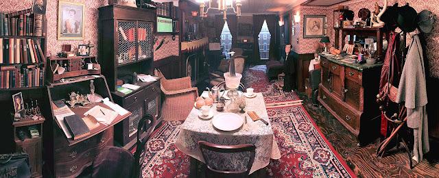 The 221B sitting room by Denny Dobry