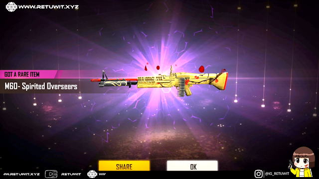 Spin Weapon Royale M60 Spirited Overseas Cukup 6 Tiket