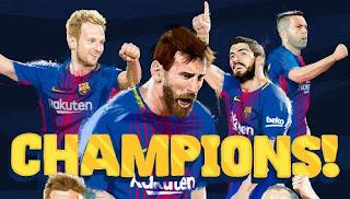 Barcelona Juara Liga Spanyol 2017-2018 Usai Kalahkan Deportivo 4-2