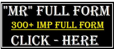 mr full form in name