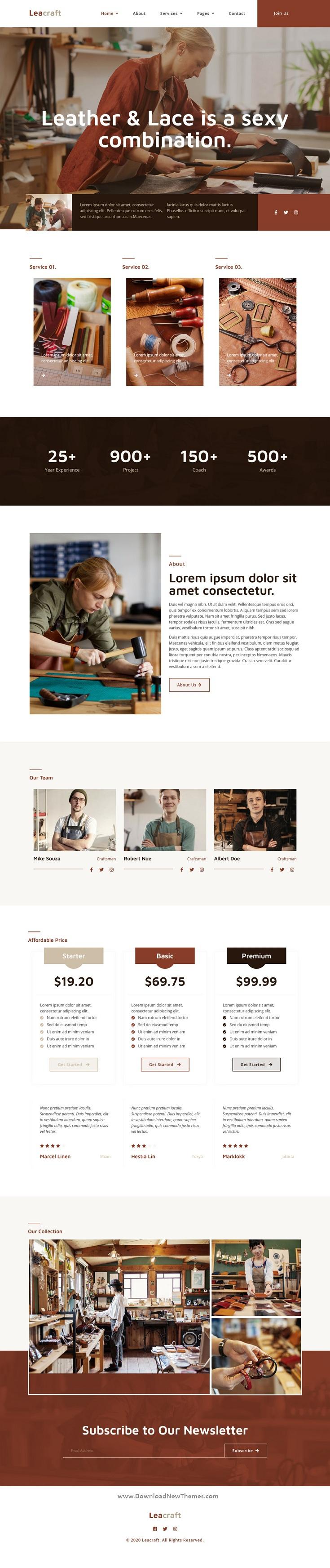 Handmade Crafts Elementor Template Kit