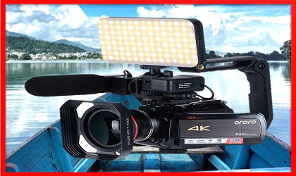 4K Video Camera Professional Video Camera Ordro AC5 12X Optical Zoom Filmadora YouTube Video Recording Camera