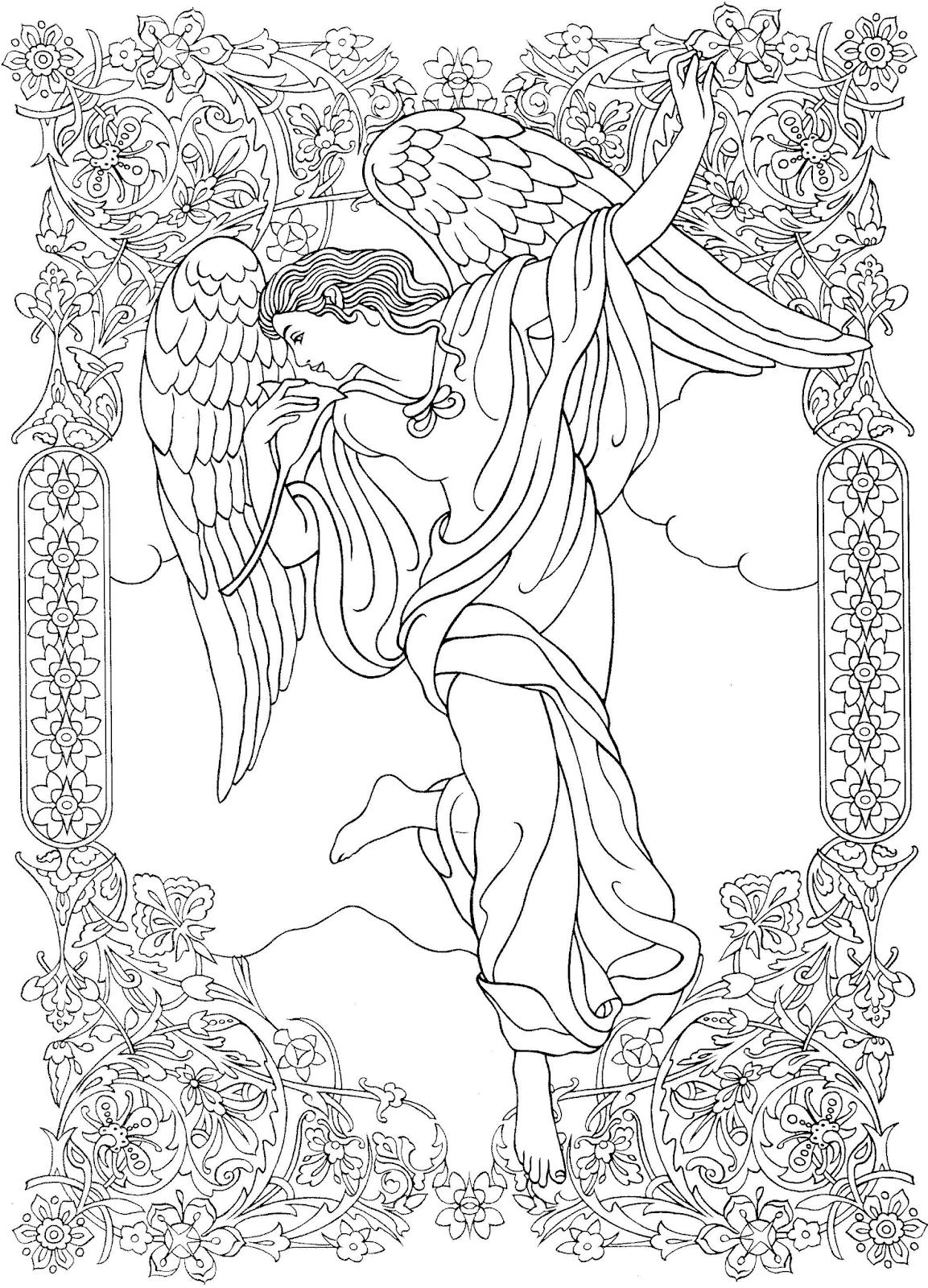 Malvorlage Engel Ausmalbilder Zum Ausdrucken Kostenlos