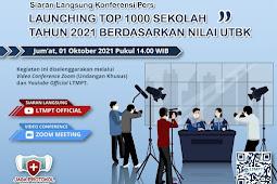 Top 1000 Sekolah Tahun 2021 Berdasarkan Nilai UTBK