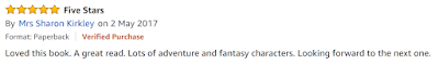 Another amazing review for Aaron Gray and the Dragon War, an adventure fantasy by David Wilson