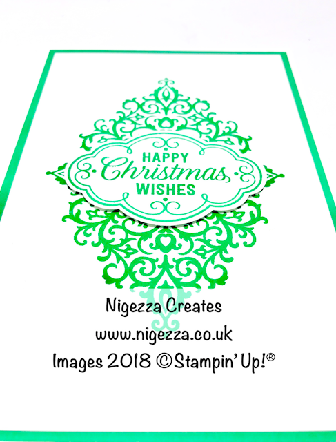 Clean & Simple Christmas Card Using Stampin' Up!® Flourish Filigree Nigezza Creates